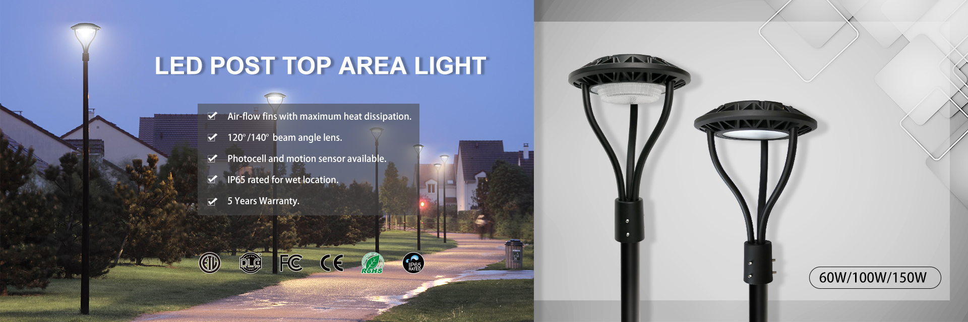 LED Post Top Area Light