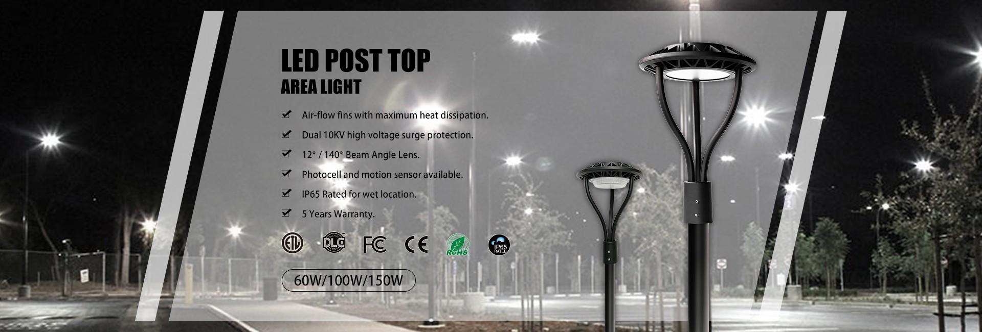 LED Post Top Area Light