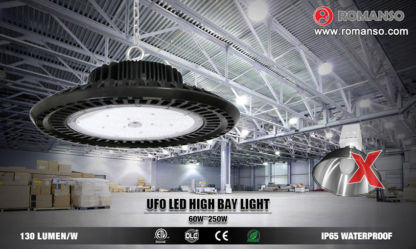 The advantage of LED UFO high bay light replacing traditional fixture.