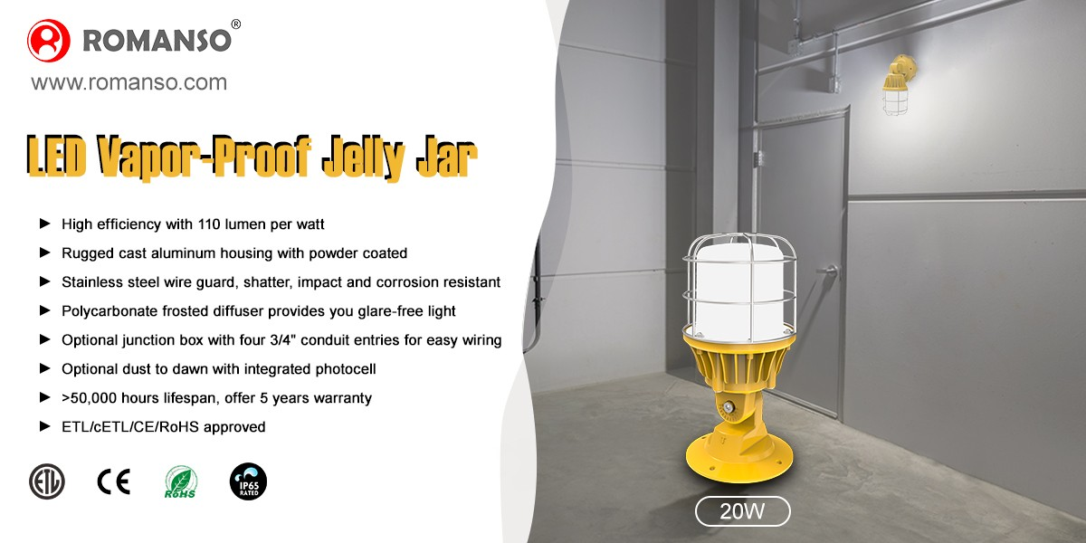 LED Vapor-Proof Jelly Jar